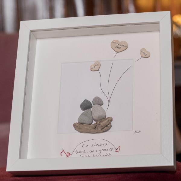 Steinbild zur Hochzeit